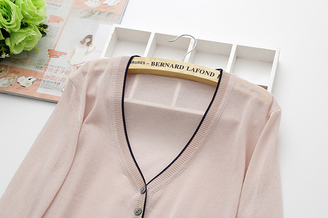 special price, thin knitted linen sweater, women's cardigan jacket, 2019 summer thin sunscreen, short air conditioning shirt. 4