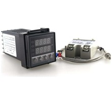 Wholesale prices Dual Digital PID Temperature Controller REX-C100 Thermostat 100-240V AC with Thermocouple K, SSR 40A , SSR-40A