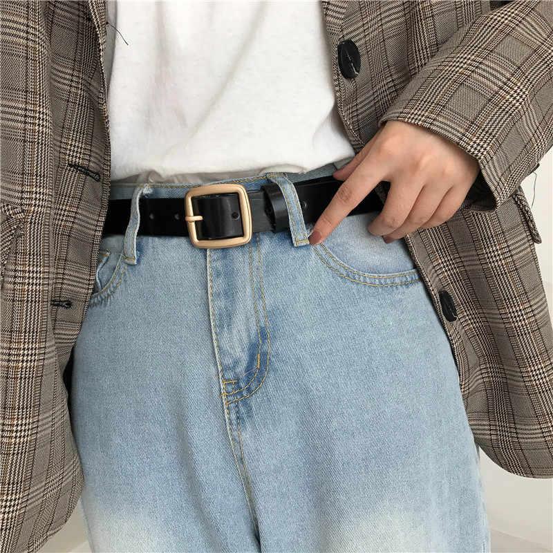 3 цвета Mihoshop Ulzzang корейские женские модные аксессуары винтажные кожаные черные ремни в стиле панк