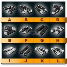 "1"" Motorcycle Handlebar Hand Grips For Yamaha V Star XVS 650 1100 Custom Silverado/For Honda Shadow Spirit VT750 VT1100 Cruiser"
