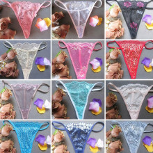 12Pcs Sexy Summer Thin Lace Panties Underwear Women See through Comfortable Shorts Women Female Intimates Random Color(China)