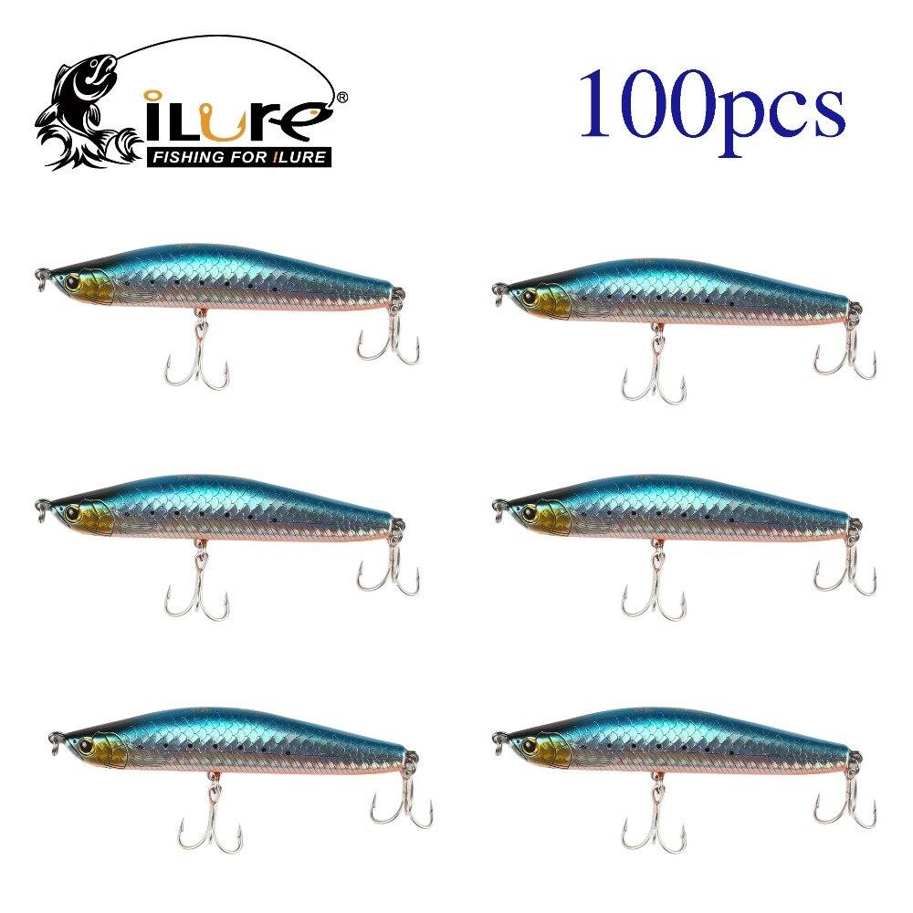 ilure Wholesale  ABS Hard Bait Minnow Fishing Lures 15g 82mm SL95 2 Fishing Hooks for Casting&Trolling Fish Lure  100 pcs/lot wldslure 1pc 54g minnow sea fishing crankbait bass hard bait tuna lures wobbler trolling lure treble hook