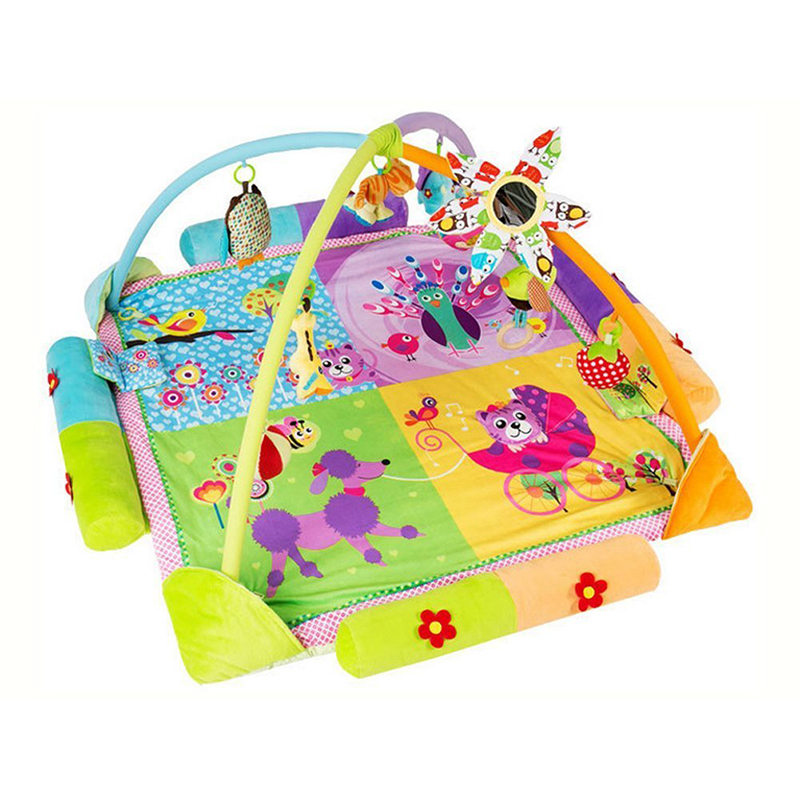 Musical Play Rug Baby Toys Fitness Activities with Beautiful Cushion Flowers Style Rug цена 2017