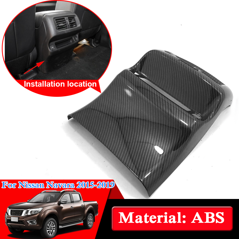 Car Styling ABS Chrome For Nissan Navara NP300 D23 2017-2019 Rear Air Hood Cover Internal Decorations Sequins Car Stickers 2014 18 car wind deflector awnings shelters for navara np300 d23 black window deflector guard fit for nissan navara np300