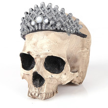 Wearing Crown Resin Craft Home Decorations Skeleton Skull Model Punk Style Decoration Personalized Ornaments
