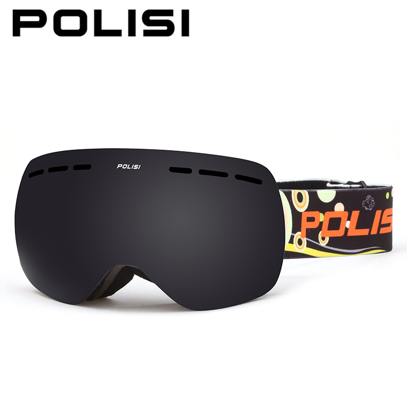 POLISI Children Kids Double Layer Anti-Fog Gray Lens Snow Skiing Goggles UV Protection Anti-Fog Ski Glasses Snowboard Eyewear topeak outdoor sports cycling photochromic sun glasses bicycle sunglasses mtb nxt lenses glasses eyewear goggles 3 colors