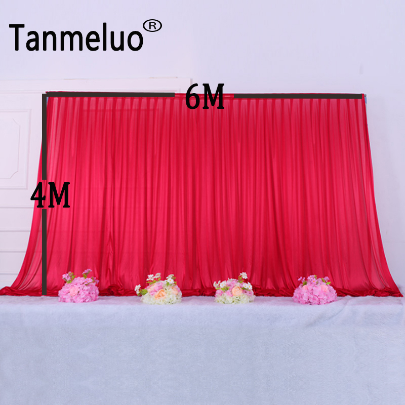 H4M x W6M wedding birthday party red backdrop curtain with rod pocket stage background curtain decorationH4M x W6M wedding birthday party red backdrop curtain with rod pocket stage background curtain decoration