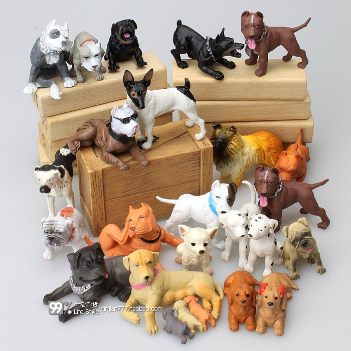 mini  ABS   resin Simulation figure   animal toy model   dogs  ornaments model  toy model gift  25pcs/set 6pcs set simulation animal model toy scene decoration little horse colts and calvespvc figure