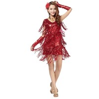 2018 singer costume latin competition dress sequins tassel latin dance costumes for women samba tango latin dance dress for wome