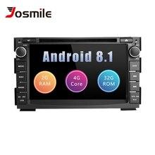 2 din Android 8,1 автомобильный мультимедийный плеер для Kia Ceed Kia Venga 2010 2011 2012 радио gps навигации DVD ГЛОНАСС головное устройство аудиосистемы