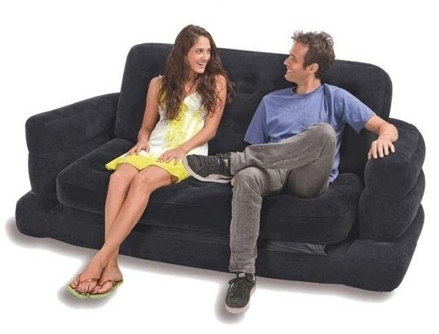 INTEX Inflatable Pull Out Sofa & Queen Bed Mattress Sleeper