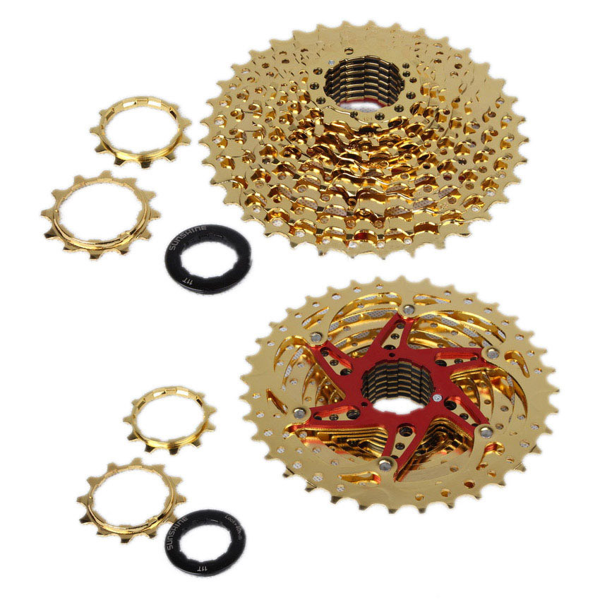 New Arrival SUNSHINE11-36T 10 Speed 10s Wide Ratio mtb Mountain bike freewheel Cassette bicycle flywheel mtb mountain bike bicycle 10s cassette freewheel 10 speeds flywheel 11 36t teeth crankset bicycle parts 392g silver