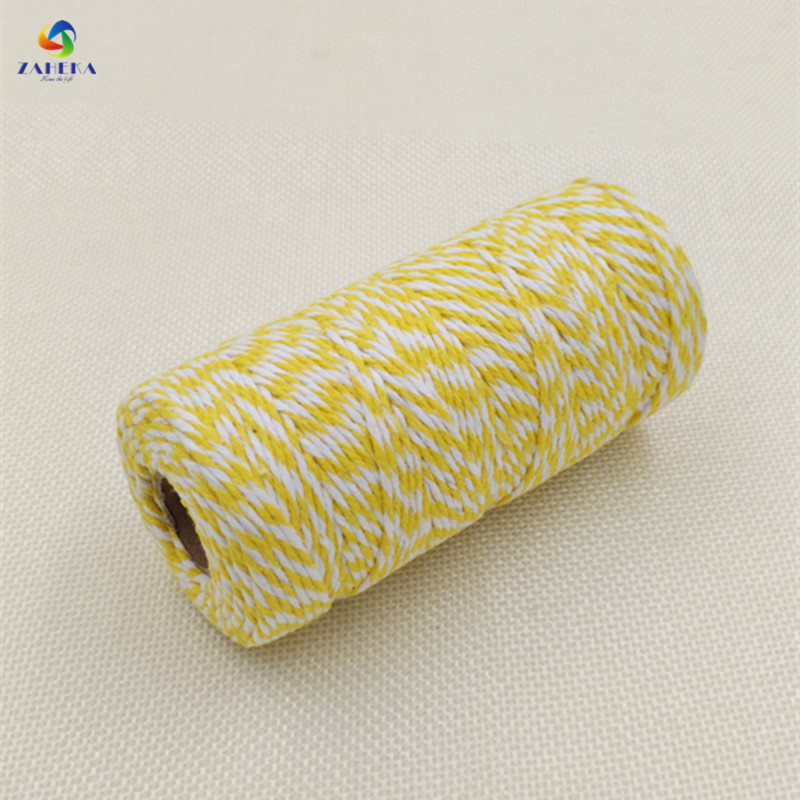 EIEYO 100 Meters Double Color Cotton Baker Twine Rope for DIY - Arts, Crafts and Sewing - Photo 2