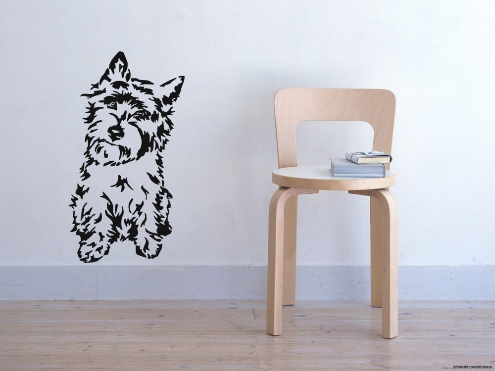 Cairn Terrier Dog Puppy Breed Pet Animal Family Wall Sticker Decal Mural image