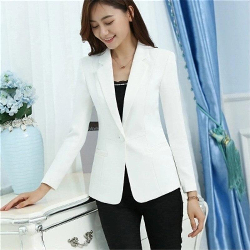 7fca9a1d9725a 4XL 5XL solo botón blanco blazer femenino casual moda abrigo Delgado corto  breve blazer mujer ol chaqueta cómoda ZY4162 en Chaquetas y americanas de  La ropa ...