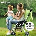 4.6 kg saco de dormir del bebé plegable portátil de 180 grados de Luz ultra-ligero paraguas coche de bebé de dos vías niño verano carro cochecito de bebé