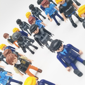 Image 2 - Playmobil 7cm  Police Navy Army Military  Action Figures  Model Moc Toys Gift For Kids  Random Style For Sale  X046