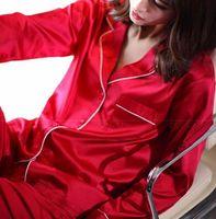 Womens Silk Satin Pajamas Set Pajama Pyjamas Set Sleepwear Lounge Wear U S S6 M8 M10