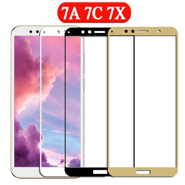 Защитное стекло для телефона honor 7a для huawei 7c 7x 7a pro 7 a c x защитная пленка для экрана Защитная пленка из закаленного стекла 2.5d