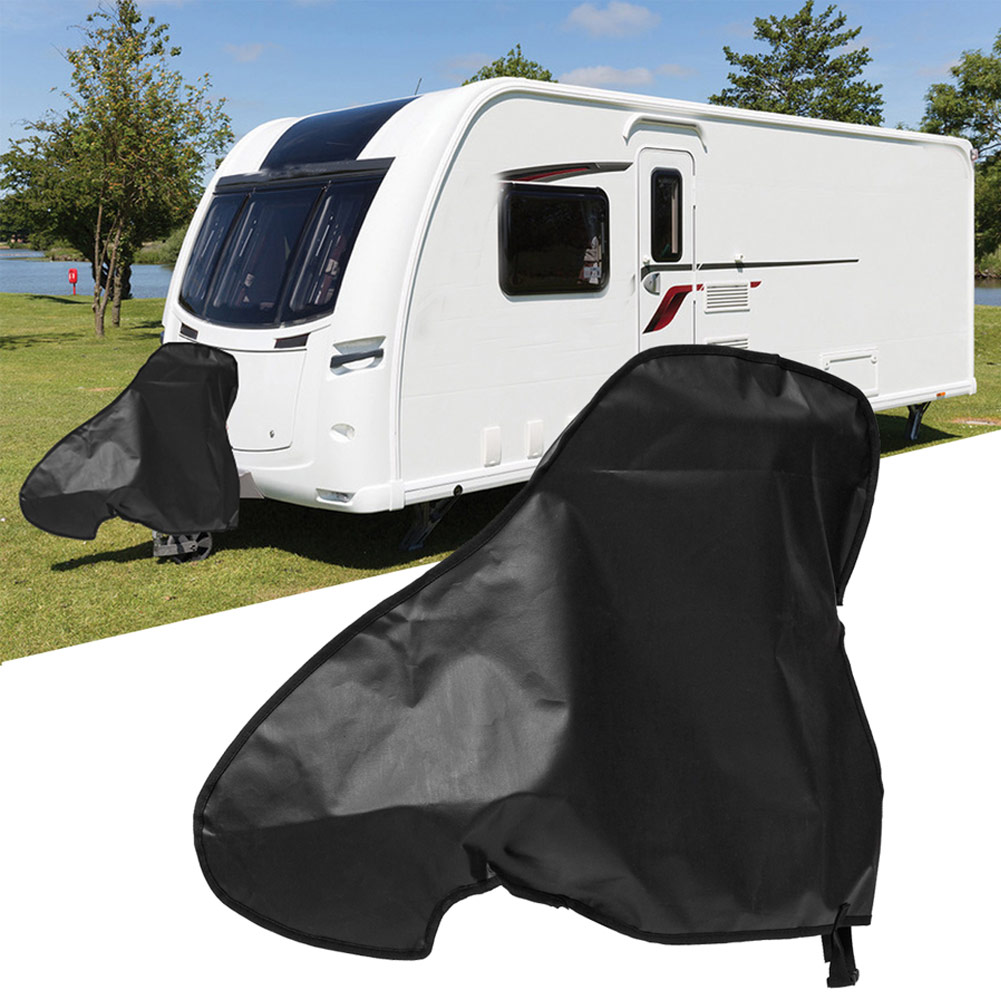 Universal Waterproof Caravan Towing Hitch Cover Rain Snow Dust Dustproof Protector For RV Tailer Car Styling Accessories
