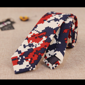 Slim Ties Hip-Hop Mosaic Designer Necktie 2015 Man Moda 5cm Skinny Narrow Nightclub Corbatas Estrechas Cotton Slim Ties Hip-Hop