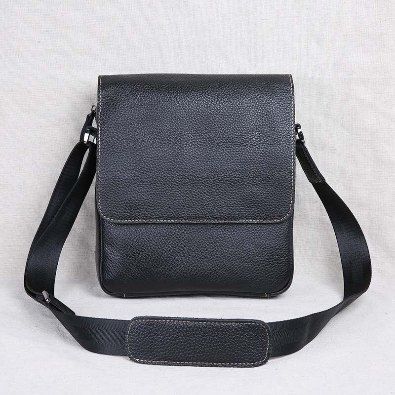 AETOO New leather men's bag shoulder bag messenger bag leather business casual bag цена