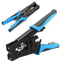새로운 1pc 내구성 동축 압축 크림 퍼 도구 BNC/RCA/F 크림프 커넥터 RG59/58/6 케이블 와이어 커터 조정 가능한 크림 핑 플라이