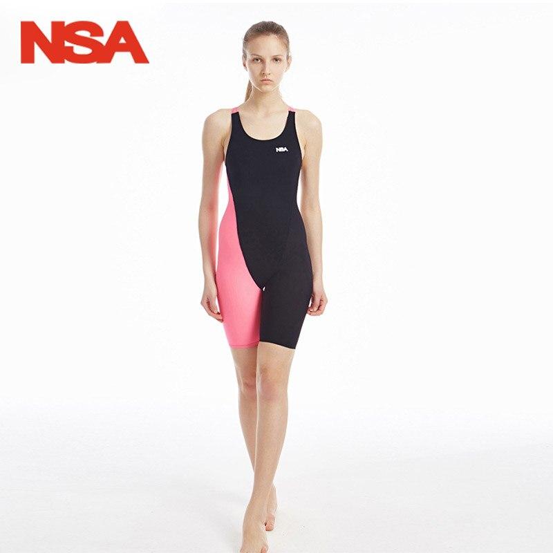 NSA BRAND Swimwear Women One Piece Swimsuit Chlorine Quick-drying Competitive Swimming Suit For Women Girls Racing Swimsuits 517 кабель titech tt nsa