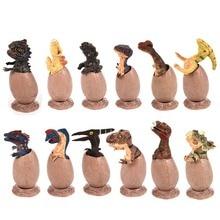 Random 1pc Simulate Realistic Pvc Jurassic Dinosaurs Egg Novelty Toys Dinosaur Model Children Kids Educational Gifts