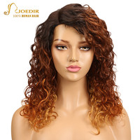 Joedir Brazilian Water Wave Virgin Hair Wig Long Human Hair Wigs For Black Women Lace Frontal Wigs With Baby Hair Blonde Color