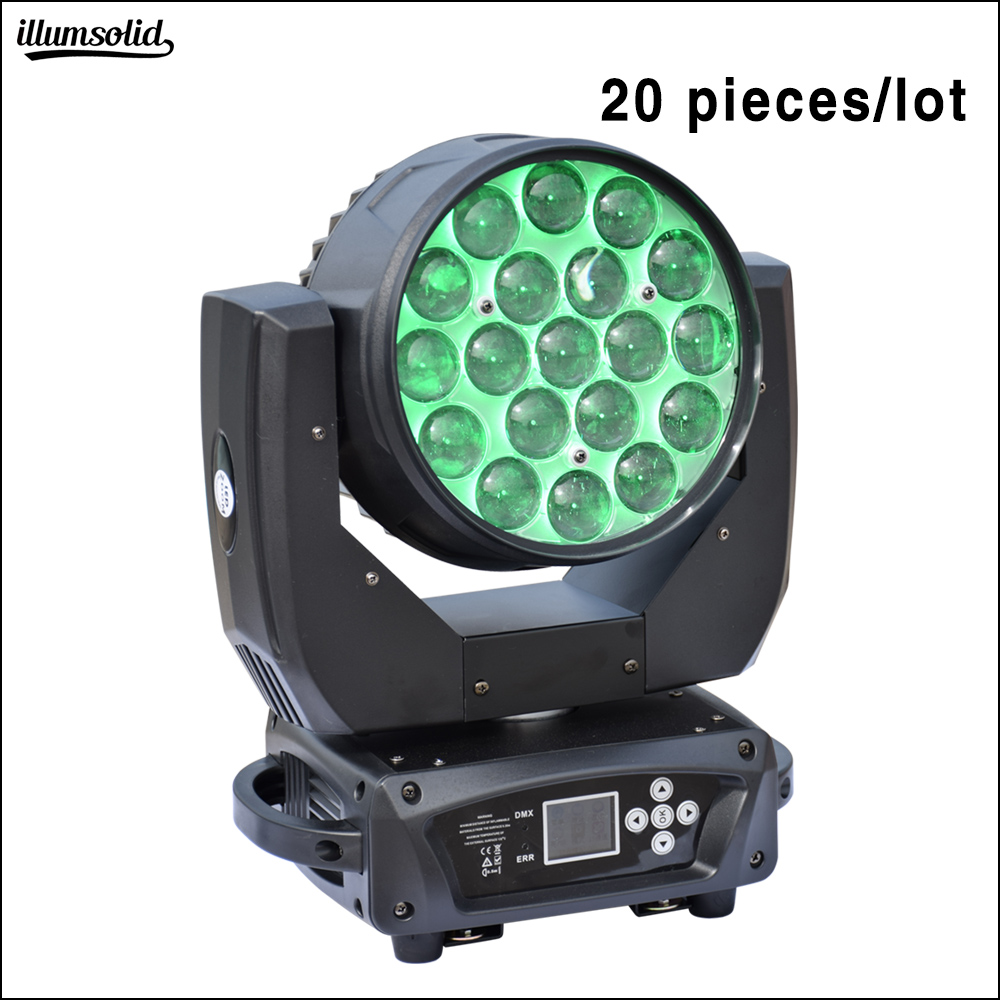 19x15 W Led Waschen Zoom Moving Head Rotating Disco Dj Bar Party Nacht Lampe 20 Teile/los