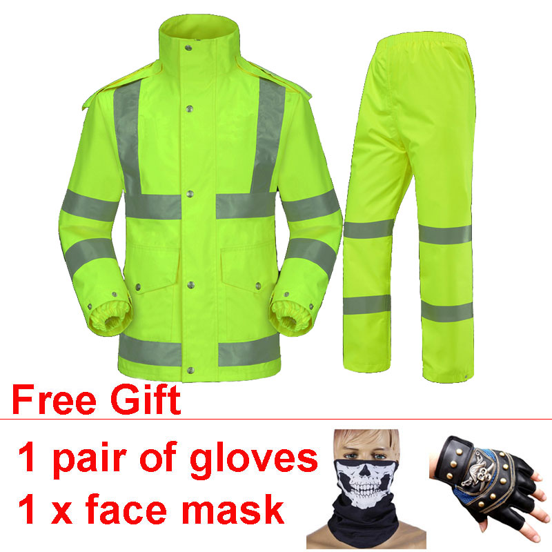 High Quality Waterproof Windproof Motorcycle Jackets Suit Raincoat Safe Reflective Campera Motociclista Impermeable Motociclista high quality waterproof windproof motorcycle jackets suit raincoat safe reflective campera motociclista impermeable motociclista