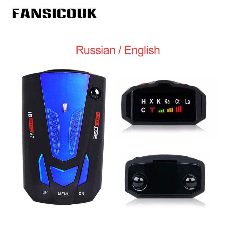 Автомобильный радар-детектор, авто-транспортное средство, голосовое оповещение, английский, русский, мобильный антирадар, 16-полосный свето...
