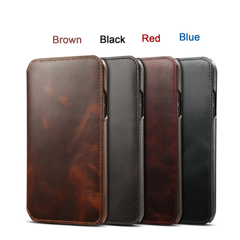 Luxury Flip Genuine Leather Phone Case for iPhone X XS Max XR 10 Case Wallet Card Slots Bag Cover for iPhone 8 7 6 6S Plus Capa