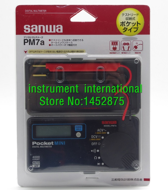 NEW Sanwa PM7A Pocket mini size portable Multimeter DMM 4000 count DC AC PM 7A