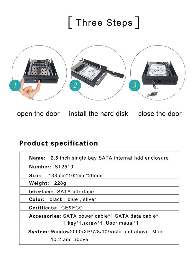 2.5 inch sata internal hdd enclosure 4