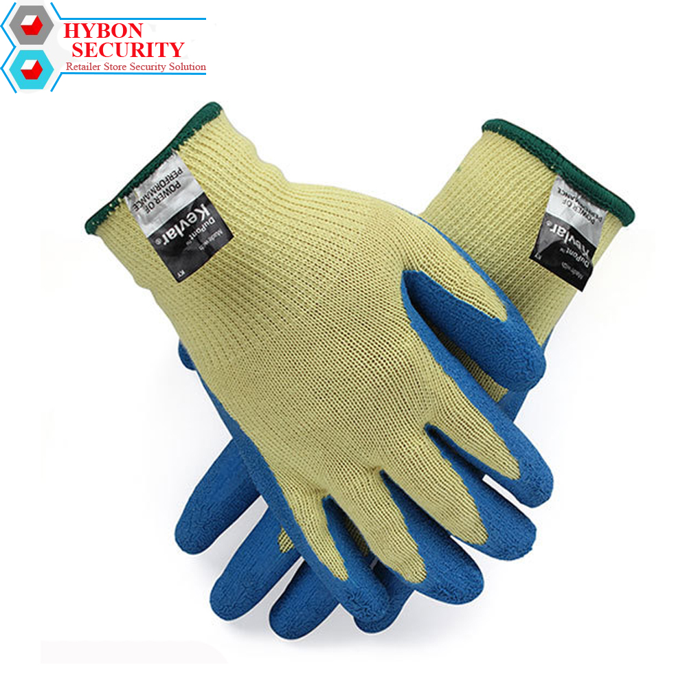 HYBON 1 Pair Anti Cut Gloves Hand Protection Dip-proof Oil-resistant Wear-resistant Hanging Gloves Gants Anti Coupure