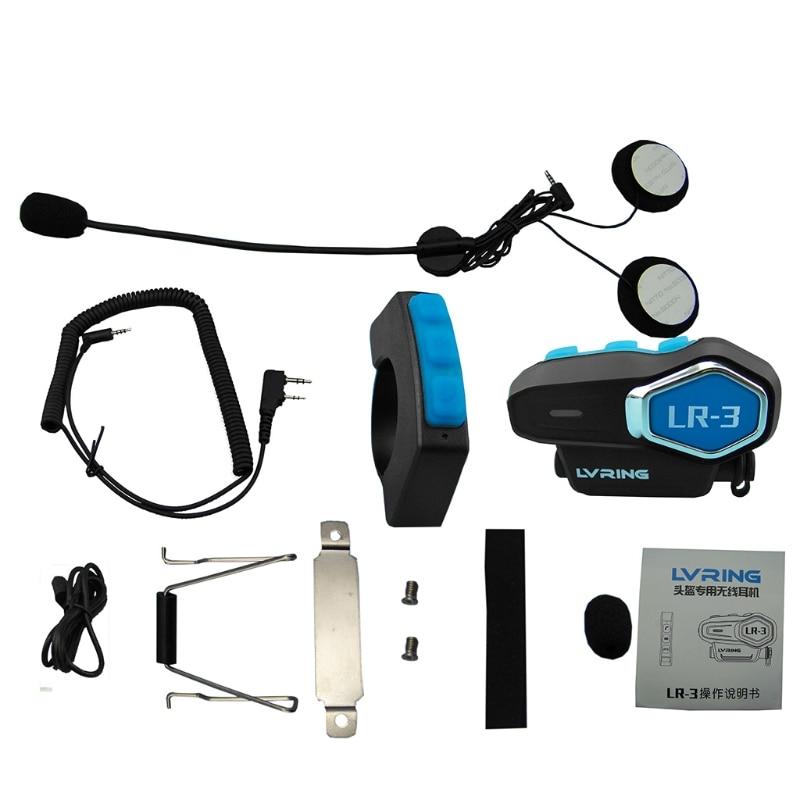 LR-3 Bluetooth Motorcyle Motorbike Helmet Interphone Intercom Headset System New -PC Friend