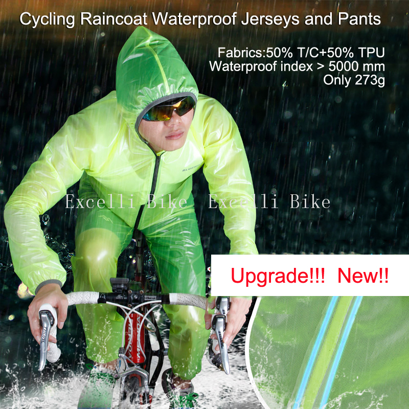Bicycle Raincoat Waterproof Cycling Rain Jacket Suit Climbing Hiking Fishing Rainwear +Rainproof Pants Riding Sleeve Set  M-XXXL  benkia motorcycle rain jacket moto riding two piece raincoat suit motorcycle raincoat rain pants suit riding pantalon moto rc28