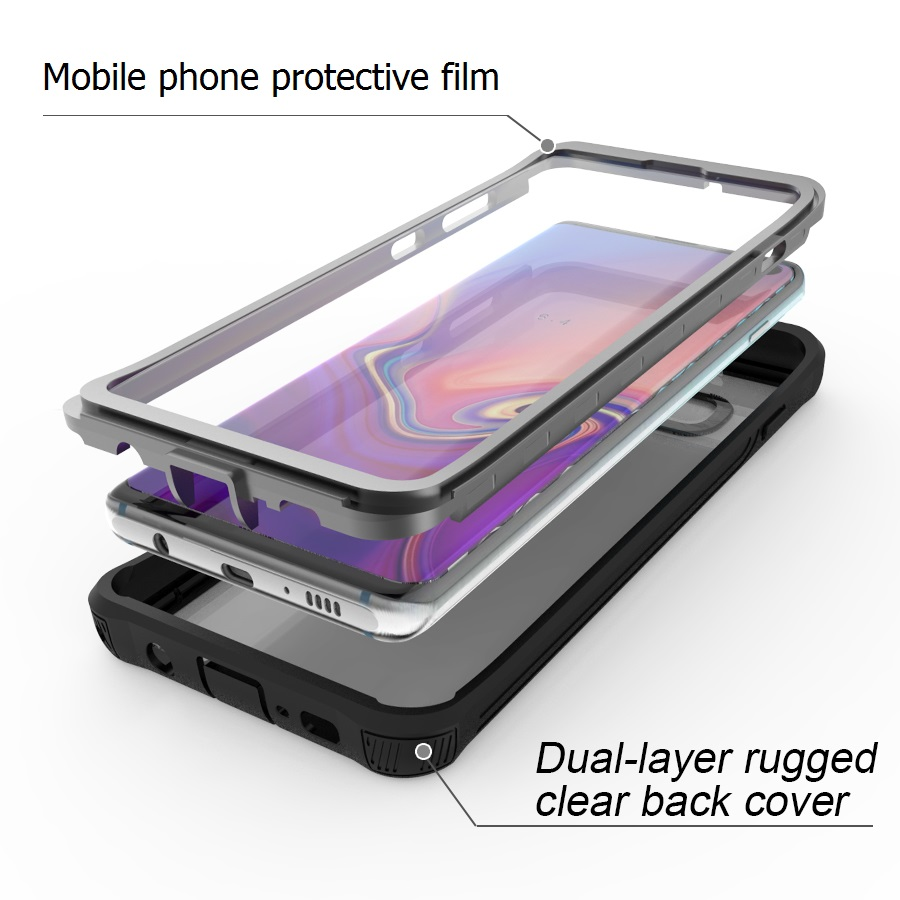 Armor 360 Full Protect For Samsung Galaxy S10 S10 Plus Case Cover transparent PC TPU Silicon