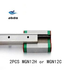 Image 1 - Высокое качество 2 шт. MGN12H MGN12C линейный подшипник скольжения блок совместим с MGN12 линейная направляющая для cnc xyz diy гравировальный станок