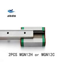 고품질 2PCS MGN12H MGN12C 선형 베어링 슬라이딩 블록 일치 cnc xyz diy 조각 기계에 대 한 MGN12 선형 가이드와 함께 사용