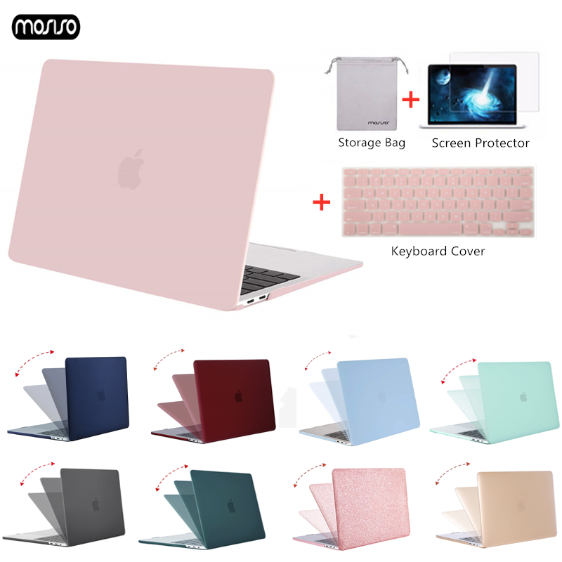 MOSISO Matte Laptop Case For Macbook Pro Retina Air 11 12 13 15 Cover For 2018 New Air 13 A1932 New Pro 13 15 With Touch Bar