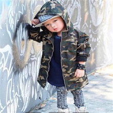 kimocat new leather jacket Boy's new mid - style long - styl