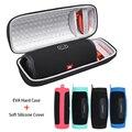 2 in 1 Hard EVA Tragen Zipper Lagerung Box Tasche + Weiche Silikon Abdeckung Fall Für Ladung 4 Bluetooth Lautsprecher tasche für jbl ladung 4 fall-in Lautsprecher Zubehör aus Verbraucherelektronik bei