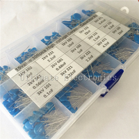 15values 300pcs 1KV 2KV 3KV 0 1nF To 22nF High Voltage Ceramic Disc Capacitor Assorted Kit