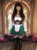 Beautiful Costumes For Women Free Shipping Fever Flirty Fraulein Maid Costume 3S1048 Sexy Costumes For Adults