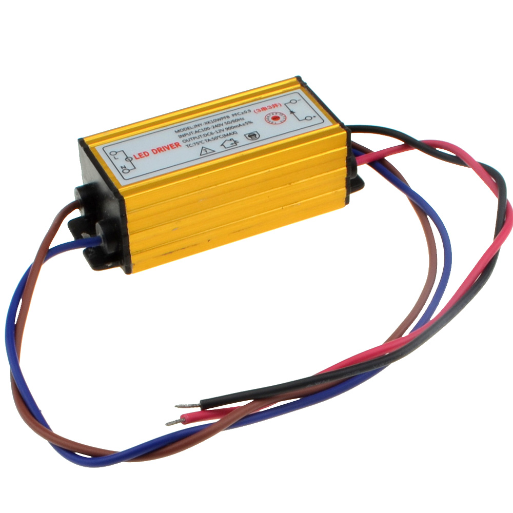 10ピース/ロット高電源ip66防水led 10ワットミリアンペア定電流源ledドライバ(入力85 265ボルト/出力7〜12ボルト) 10000474  グループ上の ライト & 照明 からの 照明変圧器 の中 1