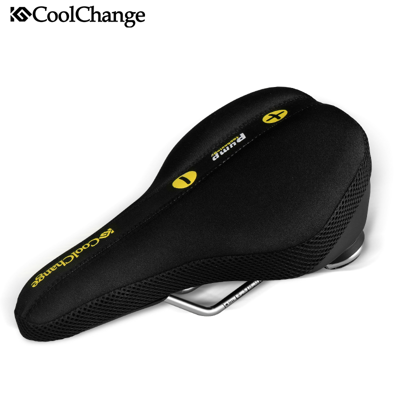 CoolChange Bicycle Saddle Cycling Mountain Road Bike Inflated Saddles Seat Cushion Cover Steel Rail MTB Bicycle Accessories coolchange bike seat comfortable saddle cover thick cushion bicycle sponge high elastic breathable cycling seat cushion cover