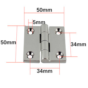 Image 2 - 50*50mm Stainless Steel 316 High Mirror Marine Square Hinge Boat Door Hinge Top Mirror Polished Boat/Yacht Square Hinge 5PCS